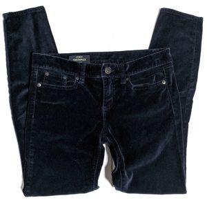 J. Crew Toothpick Velvet Jeans Navy Holiday 22220